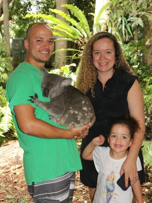 Pedro's family at Lone Pine Koala Sanctuary