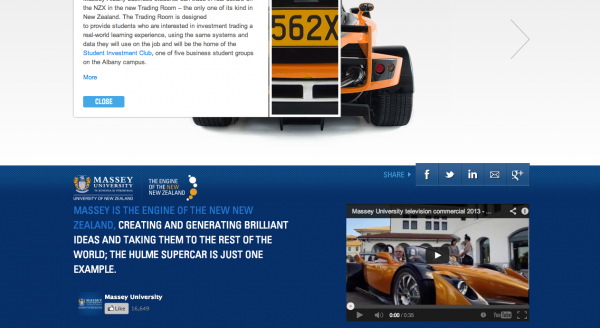 Massey University Hulme F1 Copywriting