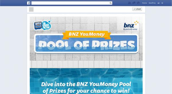BNZ YouMoney Pool of Prizes